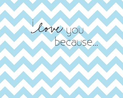 image regarding I Love You Because Printable titled Daily life Lovable Daily life: Cost-free Printable I Delight in On your own Simply because