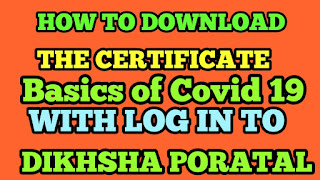 How to download a certificate of Basics of COVID-19