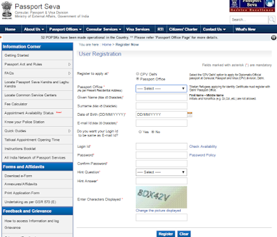 Tatkal Passport Application