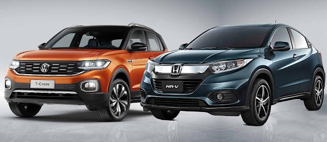 Honda HR-V 2019 x Volkswagen T-Cross