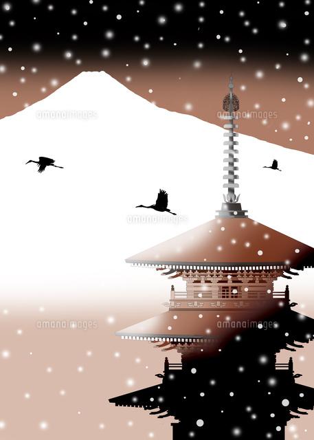 和風風景イラスト、風景イラスト、和風景、浮世絵風イラスト、富士山イラスト、京都イラスト、インバウンド、日本観光、世界遺産、イラストレーター