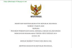 PERATURAN MENTERI KESEHATAN REPUBLIK INDONESIA NOMOR 9 TAHUN 2020 TENTANG PEDOMAN PEMBATASAN SOSIAL BERSKALA BESAR DALAM RANGKA PERCEPATAN PENANGANAN CORONA VIRUS DISEASE 2019 (COVID-19)