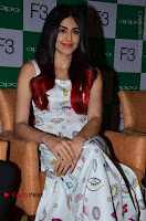 Bollywood Actress Adah Sharma Pos in White Printed Short Dress at OPPO F3 Plus Selfie Expert Mobile Launch .COM 0016.jpg