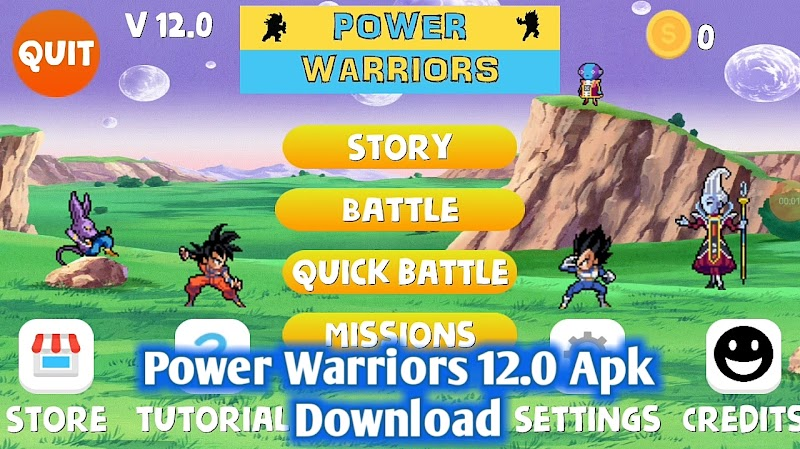 Power Warriors 12.0 Mod Apk Download With New Characters Updates