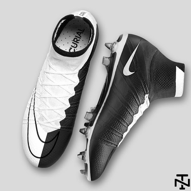 huge selection of fbe9d 0c5eb Nike Mercurial Superfly Weiß  Schwarz Konzeptschuh