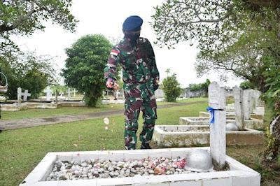 Danlanud Supadio Pimpin Ziarah Jelang Peringatan ke-74 Hari Bakti TNI AU
