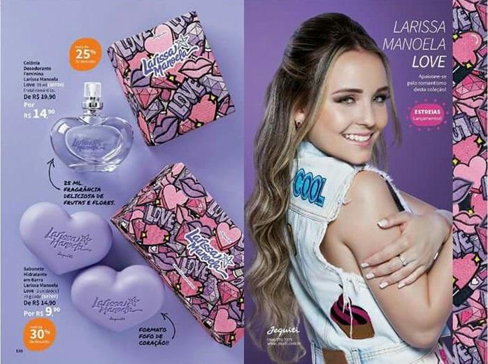 Aproveitem para comprar esse super Kit da Larissa Manoela, sua segunda  linha, Larissa Manoela Love, chega algumas unidades até dia 20 03 2018. a10f3db432