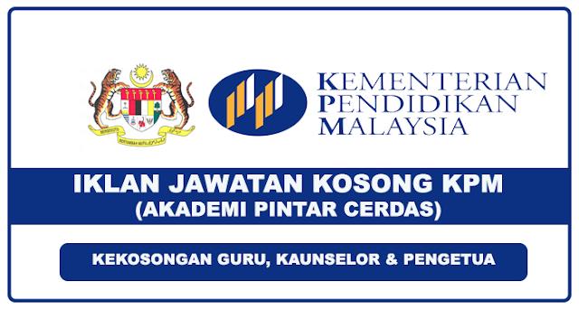 Iklan Jawatan Kosong KPM - Akademi Pintar Cerdas