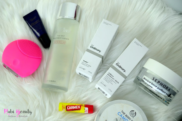 rubibeauty favoritos cosmetica 2017 rutina cuidado facial esencia the ordinary missha foreo