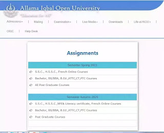 How to download AIOU assignment question paper 2021?