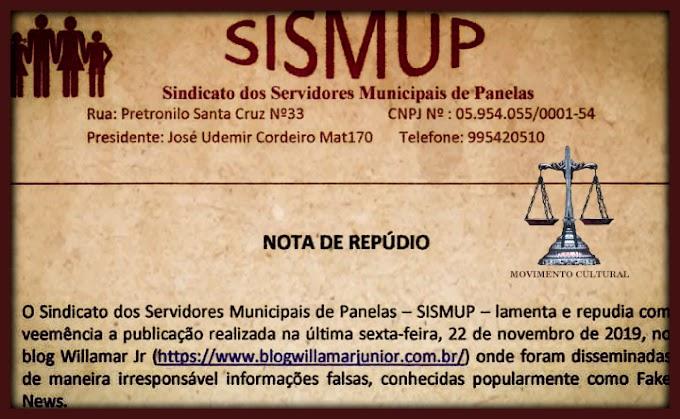 SISMUP PUBLICA NOTA DE REPÚDIO A FAKE NEWS