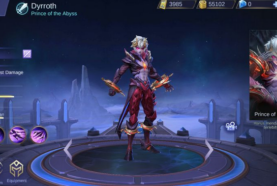 Arti Kata Suara Host Hero Dyrroth Quotes Di Mobile Legend