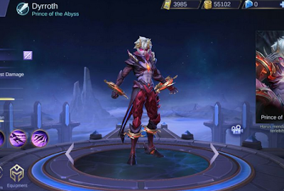 Arti kata suara host hero Dyrroth (Quotes)  di mobile legend - Lengkap