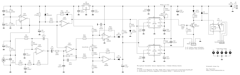 Microphone volumetric sensor schematic