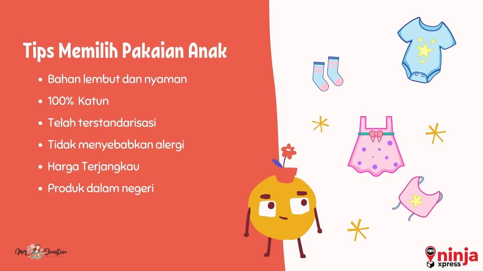 Tips Memilih Pakaian Anak