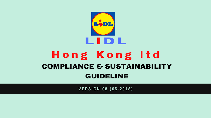 COMPLIANCE & SUSTAINABILITY  GUIDELINE of Lidl Hong Kong Ltd.
