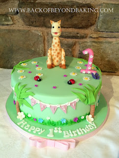 Sophie the giraffe 1st birthday cake