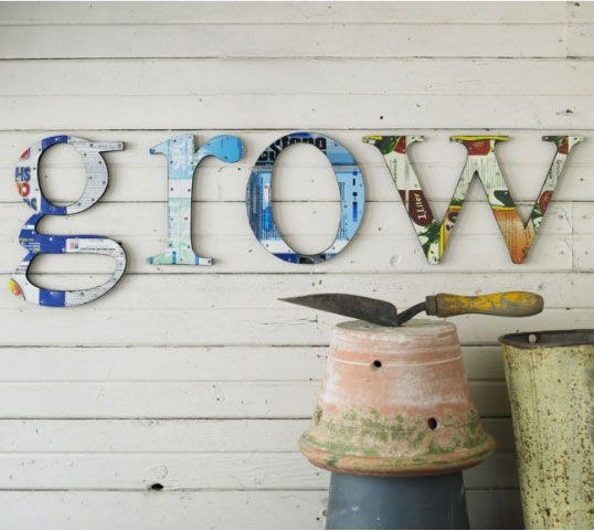 Petite Planet: Upcycled Letter Decor for the Home