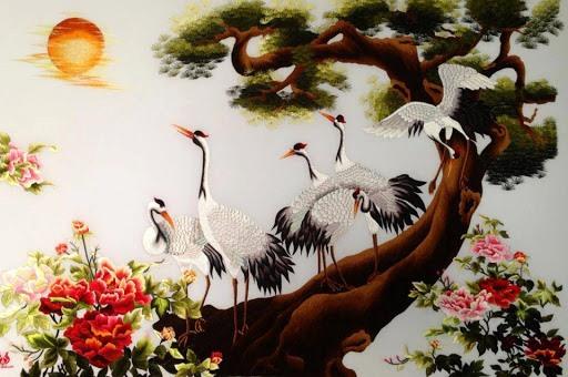 Đôi nét về dòng tranh thêu tay truyền thống