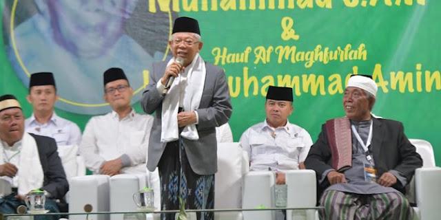 KH Ma'ruf Amin Maafkan Habib Ja'far Shodiq Alattas yang Mencaci dengan Sebutan Hewan