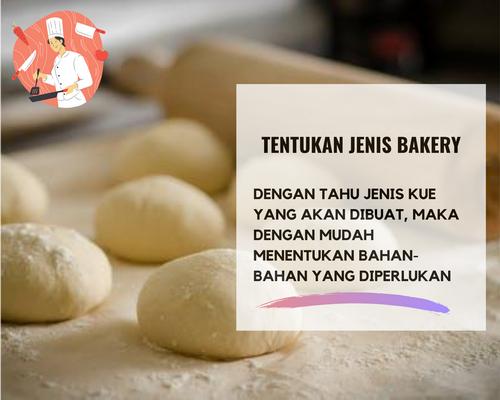 tentukan jenis bakery