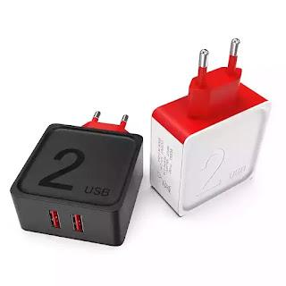 Oferta flash! Carregador USB 5v 2,4A por 1€ e o de  3A por 1,8€