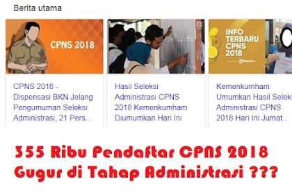 BKN Umumkan 355 Ribu Pendaftar CPNS 2018 Gugur di Tahap Administrasi