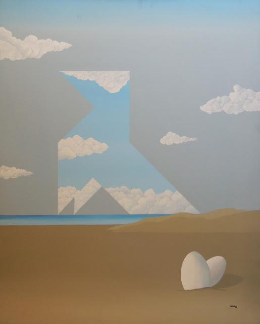 Calvet obra arte pintura acrílico tela
