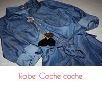 robe denim cache cache