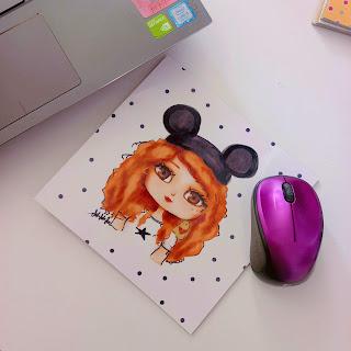 Miki Kız Kare Mouse Pad Mouse Altlığı