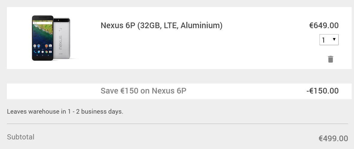 Google store coupon code nexus 6p