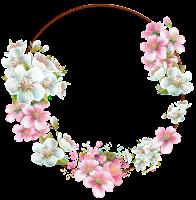 Moldura círculo com flores