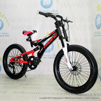 20 Inch Pacific Viper 3.0 Full Suspension 6 Speed Ban Ban Jumbo Junior Mountain Bike
