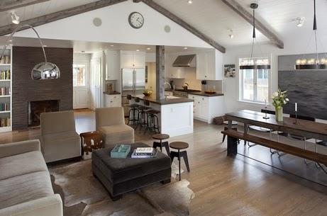 серые балки в современном потолочном интерьере