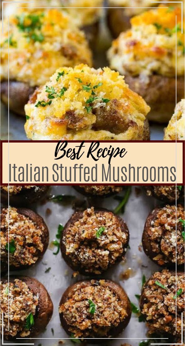 Italian Stuffed Mushrooms #healthyfood #dietketo #breakfast #food