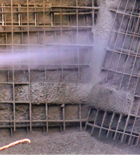 Initial greater rebound in shotcrete