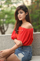 Rhea Chakraborty in Red Crop Top and Denim Shorts Spicy Pics ~  Exclusive 272.JPG