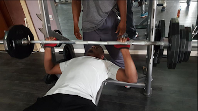 governor Abdulfata Ahmed works out