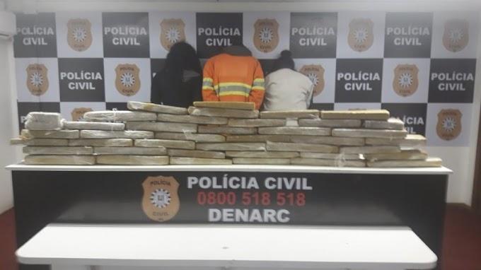 Traficantes são presos com 44 quilos de maconha em Gravataí