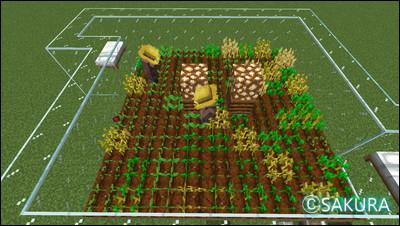 Minecraft 全自動の小麦とビートルートの畑