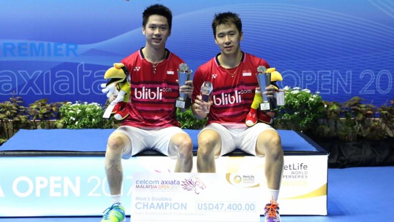 Kevin dan Marcus juara Malaysia Open 2017