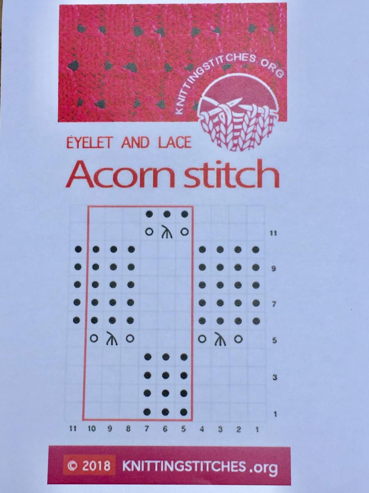 Knitting Stitches 2018 - Acorn stitch pattern