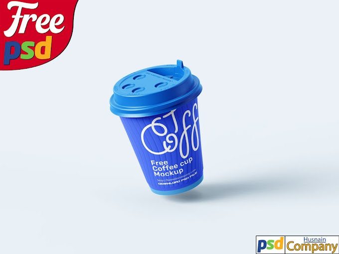 Download Free Paper Coffee Cup PSD Mockup #2