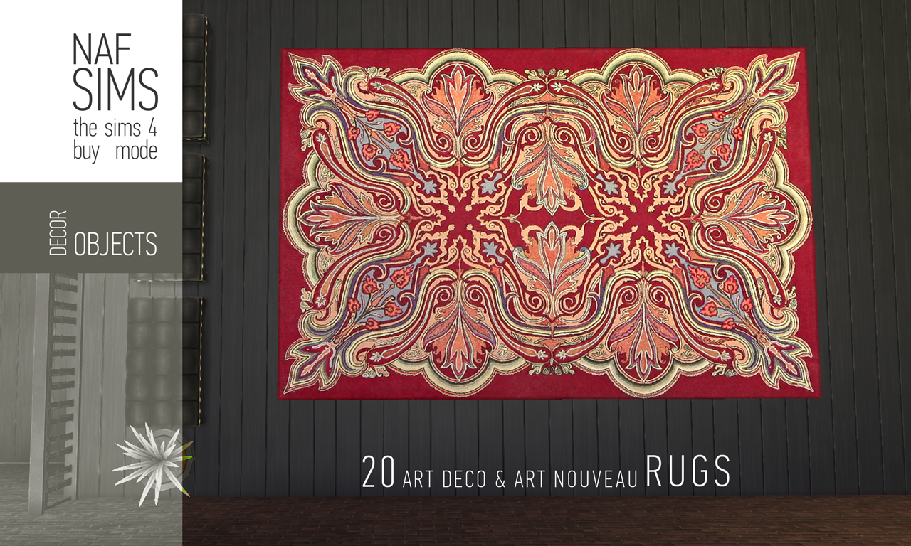 Art Deco Nouveau: My Sims 4 Blog: Art Deco & Art Nouveau Rug Collection By