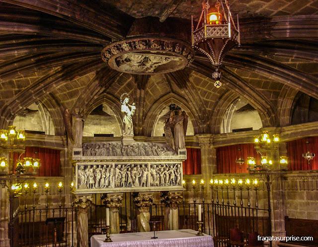 Cripta de Santa Eulália, na Catedral de Barcelona