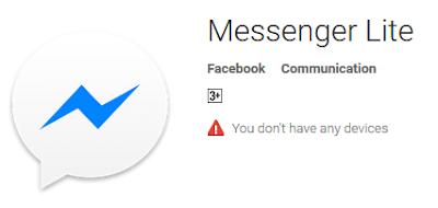 Aplikasi Facebook Messenger Lite