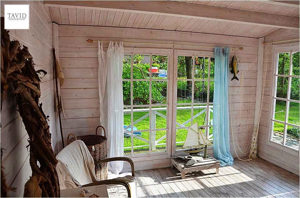 schwedisches gartenhaus maritime impressionen von innen maritimer wohnen. Black Bedroom Furniture Sets. Home Design Ideas