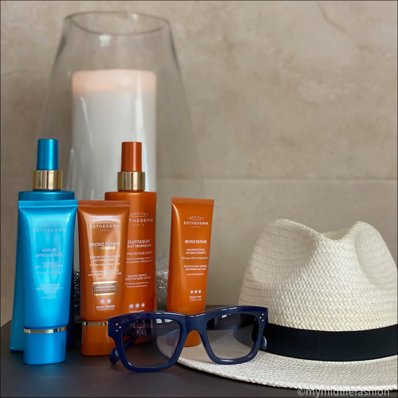 my midlife fashion, institut esthederm, institut esthederm after sun face cream cream, institut esthederm tan prolonging lotion, institut esthederm bronze repair sun kissed, institut esthederm adaptasun sea and tropics protective body lotion, institut esthederm bronze repair
