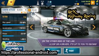 تحميل لعبة سباق الطرق السريعة CarX Highway Racing مهكرة اخر اصدار مجانا للاندرويد