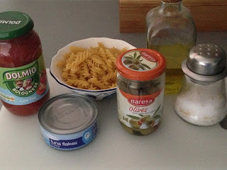 Pasta al tonno, ingredientes